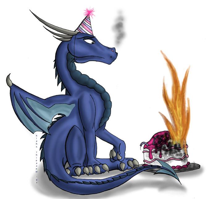 Днем, открытки с днем рождения с драконами