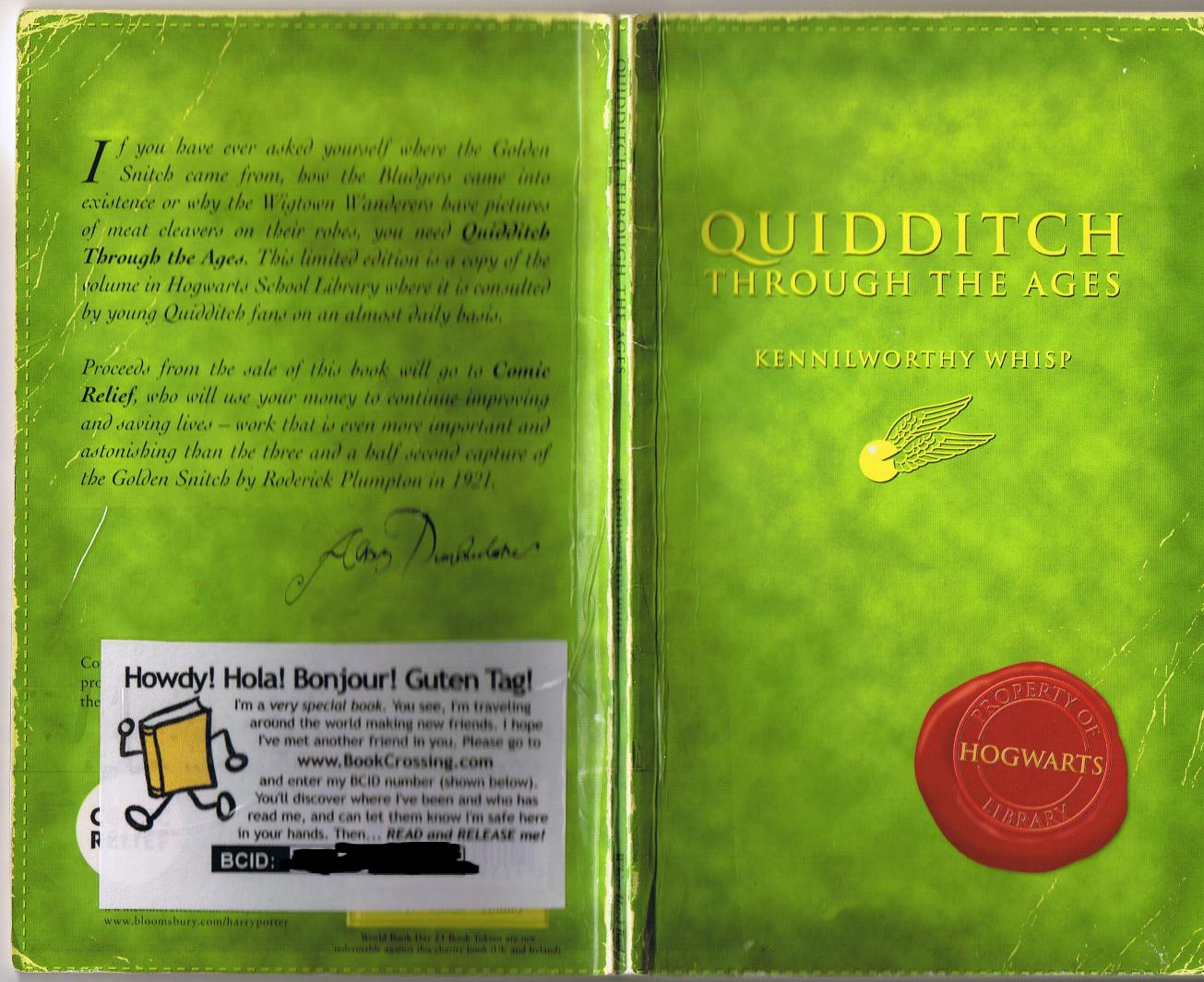 Harry Potter School Book Cover ~ Quidditch through the ages harry potter s schoolbooks
